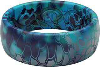 Groove Life - Silicone Ring for Men and Women Wedding Rubber Band with Lifetime Coverage, Breathable Grooves, Comfort Fit, and Durability - Original Camo Kryptek