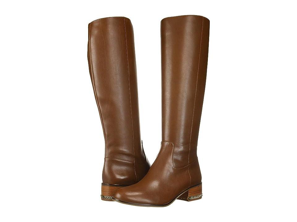 MICHAEL Michael Kors Walker Flat Boot (Dark Caramel) Women
