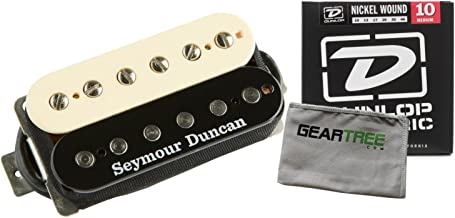 Seymour Duncan SH-2n Jazz Model Zebra Neck Pickup w/Geartree Cloth and Pack of