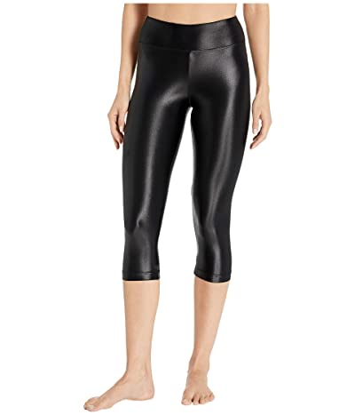 Koral Lustrous High-Rise Capris (Black) Women