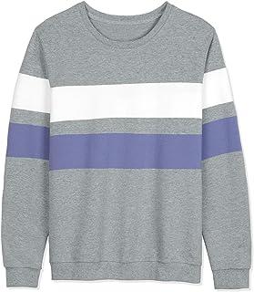 Lars Amadeus Men's Color Block Sweatshirt Crew Neck Long Sleeves Pullover Jumpers T-Shirt