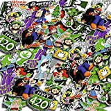 Weed Stickers Pack of 36 Vinyl Decals - Cool Marijuana Stickers for Adults - Trippy Stickers Pack for Water Bottles Laptop Phone Computer Car Luggage