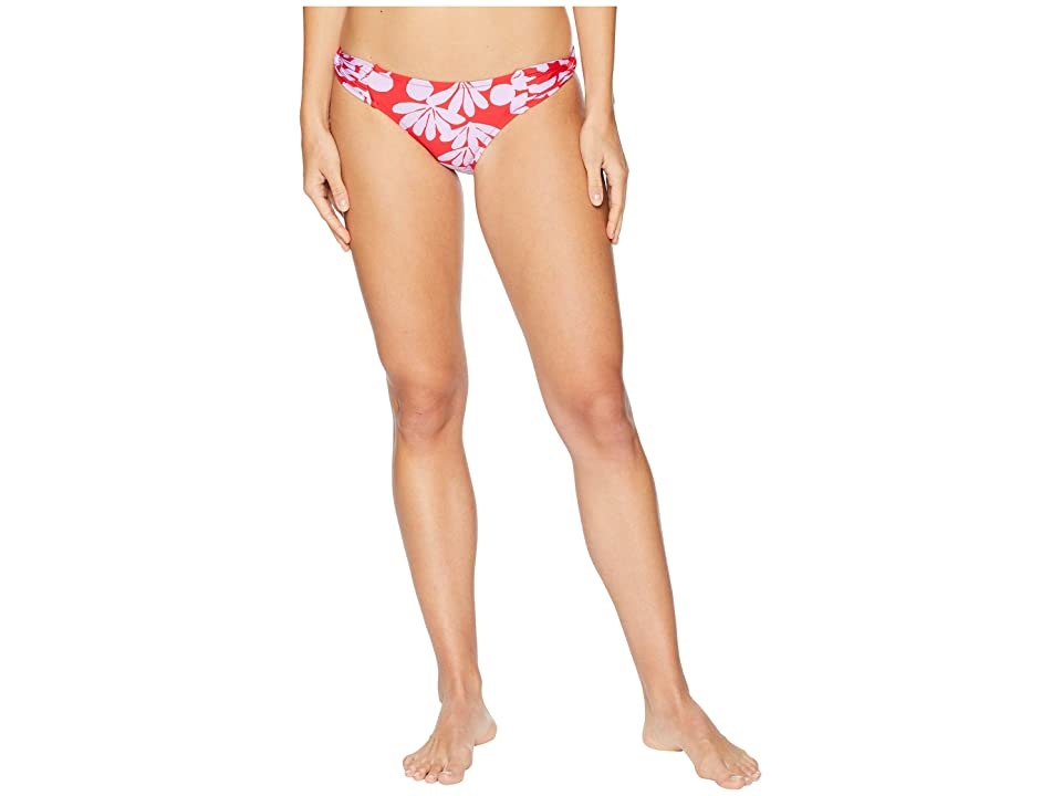 Trina Turk Bali Blossoms Twist Side Hipster Bottom (Red) Women