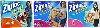 Ziploc 3 Jumbo big bags, 4 X-Large big bags, 5 Large big bags