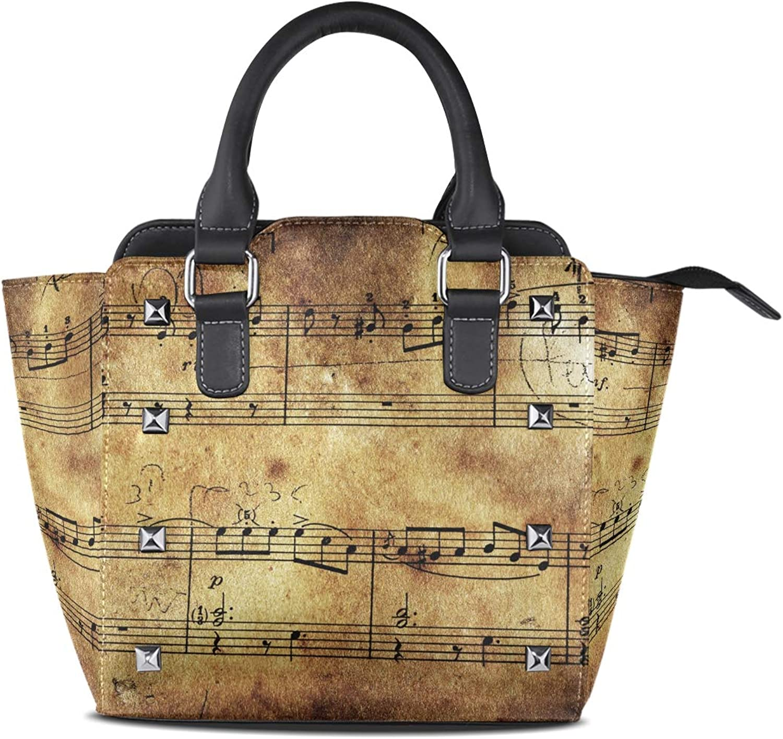 Women's Handbags Sheet Retro Music Note Tote