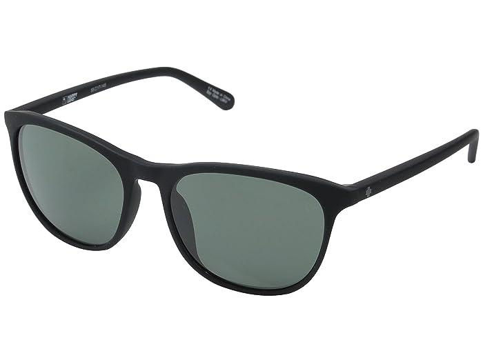 Spy Optic Cameo (Soft Matte Black/Happy Gray Green) Athletic Performance Sport Sunglasses