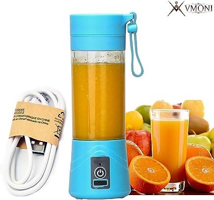 Vmoni Portable USB Juicer Blender 380 ml Bottle with USB Charging Cable (Multi Color)