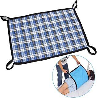 Transfer Board Slide Belts Protective Underpads Adult Incontinence Bed Pads Draw Sheet Medical Lift Sling Transferring Lifting Blets Patient Positioning Pad - 4 Handle Assist Caregiver (Plaid Cloth)
