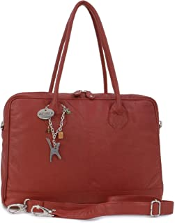 Ladies Leather Messenger/Shoulder Bag - Detachable Strap - Women's A4 Work Bag - GROSVENOR