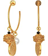 Oscar de la Renta - Brass Bead Earrings