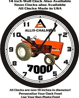 ALLIS CHALMERS 7000 TRACTOR WALL CLOCK-FREE USA SHIP!