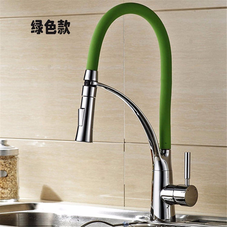 Lvsede Bad Wasserhahn Design Küchenarmatur Niederdruck Vintage Edelstahl Grün Messing Wasserfall Küche Waschraum I189