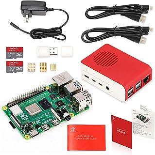 Raspberry Pi 4 Model B Starter Kit/ラズベリーパイ4B(4GB RAM)技適マーク付/MicroSDHCカード32GB NOOBSプリインストール/1つのプレミアムケース/4つのヒートシンクセットと1つの冷却ファン/5.1V/3A Type-C 電源/2つのMicroHDMI-to-HDMIケーブルライン/カードリーダ/日本語取扱説明書/1年保証付 (Raspberry Pi 4 4GB Kit(MicroSDHCカード32GB&16GB))