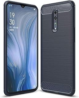 Boleyi Case for OPPO Reno Z, [Anti-Slip] [Ultra-Thin] [Durable] TPU Cover Phone Case, for OPPO Reno Z Cover -Dark Blue