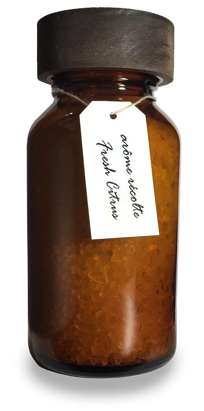 不完全な病気の言い聞かせるアロマレコルト ナチュラル バスソルト フレッシュシトラス【Fresh Citrus】arome recolte natural bath salt