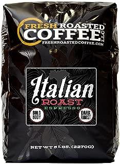 Fresh Roasted Coffee LLC, Italian Roast Espresso Coffee, Whole Bean, 5 Pound Bag