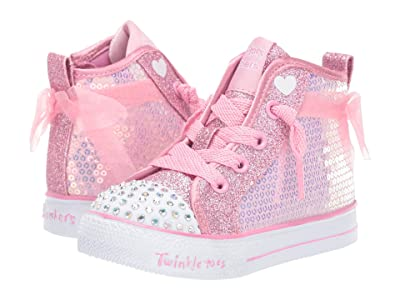 SKECHERS KIDS Shuffle Lite Sparkle Beauty 20220N (Toddler/Little Kid) (Pink) Girl