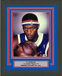 Framed Autographed/Signed Al Thornton Los Angeles LA Clippers 8x10 Basketball Photo PSA/DNA COA