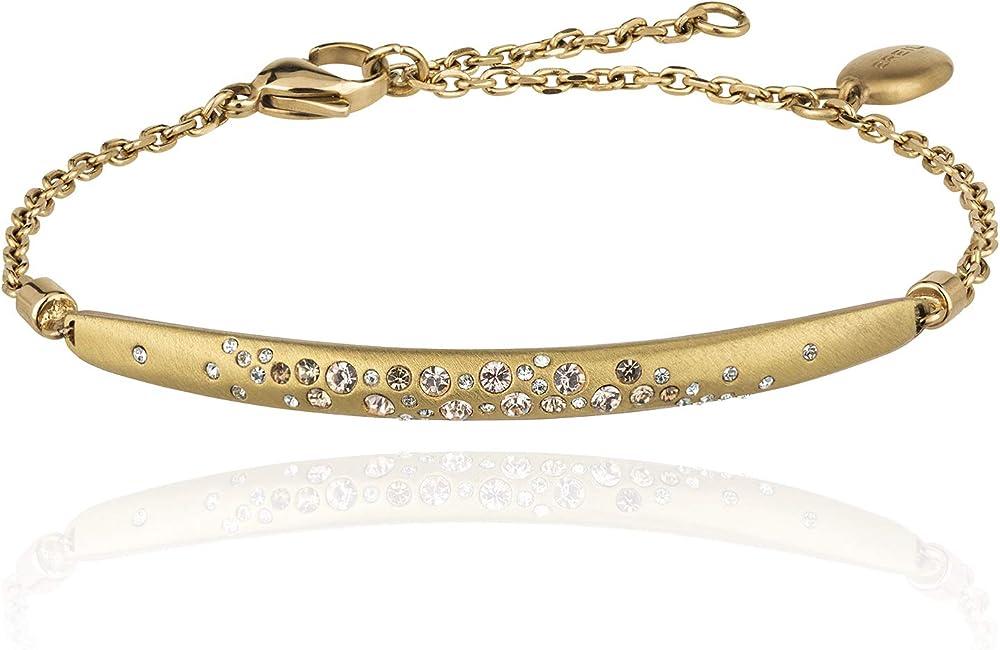 Breil bracciale da donna in acciaio colorato colore silver & gold con pietre incastonate TJ2656