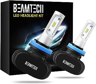 BEAMTECH H11 LED Headlight Bulb, 50W 6500K 8000Lumens Extremely Brigh H8 H9 CSP Chips Conversion Kit