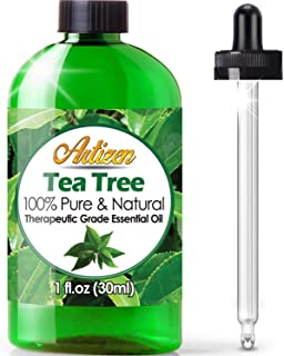 Artizen Tea Tree Essential Oil (100% Pure & Natural - UNDILUTED) Therapeutic Grade - Huge 1oz Bottle - Perfect for Aromath...