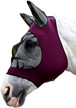 Weatherbeeta Stretch Eye Saver with Ears (Full, Purple/Black)