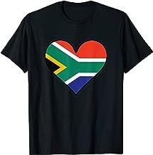 South African Flag Heart Cute South Africa T-Shirt