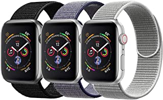 amBand Compatible for Apple Watch Sport Loop Band 38mm 40mm 42mm 44mm, Lightweight Breathable Nylon Replacement Band for Apple Watch Series 1, Series 2, Series 3, Series 4, Sport, Edition