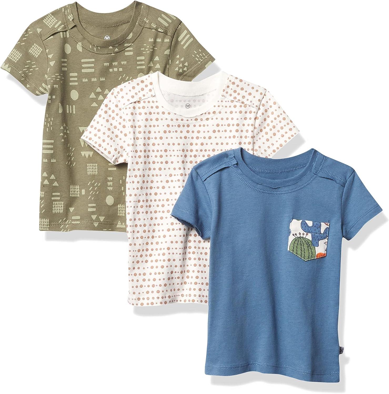 HonestBaby Baby 3-Pack Organic Cotton Pocket T-Shirts