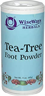 Wiseways Herbals, Foot Powder Tea Tree, 3 Ounce