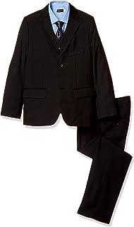 (Buona Vita) 男の子 スーツ 5点セット ブラック 卒業式 入学式 結婚式 キッズ 黒無地 145 150 155 160 七五三 フォーマル