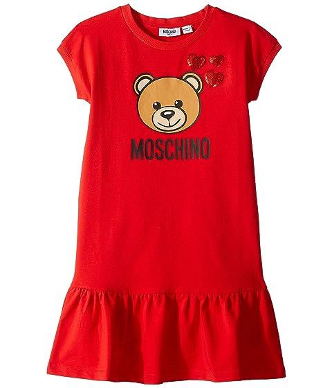 Moschino Kids Heart Embroidery Dress (Big Kids)