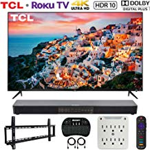 $489 » TCL 50S525 50-inch 5-Series Roku Smart HDR 4K UHD TV (2019) Bundle with Deco Gear Home Theater 31-inch Soundbar, Vivitar 37-70inch Wall Mount Kit, Wireless Keyboard and 6-Outlet Surge Adapter