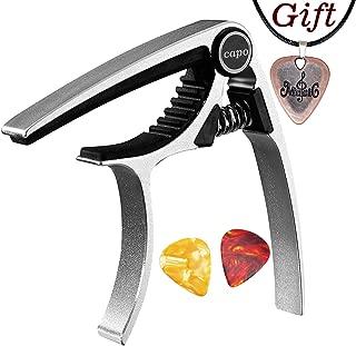 Capo,Guitar Capo for Acoustic Electric Guitar Quick Change Capo Silver