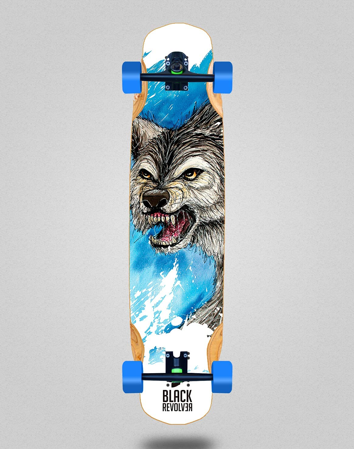 Black Revolver Skateboard Longboard Complete 38 Mix x discount Bamboo 8.4 lowest price