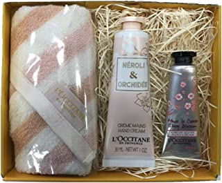 【Amazon.co.jp限定】 ロクシタン(L'OCCITANE) オーキデ プレミアムハンドクリーム&タオルセット