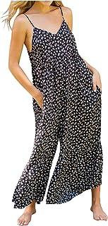 QUINTRA Women Boho Print Romper Long Playsuit Harem Jumpsuit Women & Harem Pants - Genie Trousers