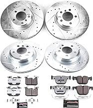 Power Stop K6654-26 Z26 Street Warrior Front & Rear Kit Rotor and Carbon-Fiber Ceramic Brake Pads