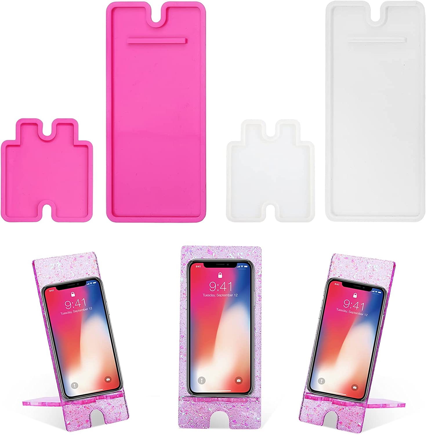 4pcs Phone Stand Resin Molds Mobile Silicone Outlet ☆ Free Shipping Kit Bundle Ho Indefinitely