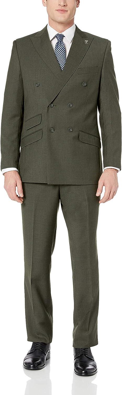 Frank Men's Suit Slim Fit 2 Pieces Green Office Suit