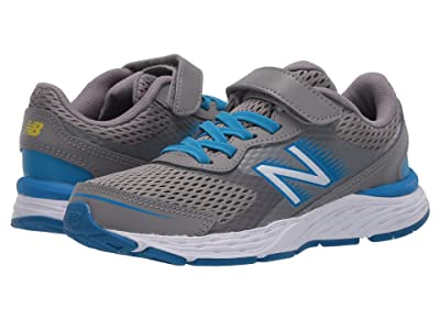 New Balance Kids 680v6 Bungee (Little Kid/Big Kid) (Marblehead/Vision Blue) Boys Shoes