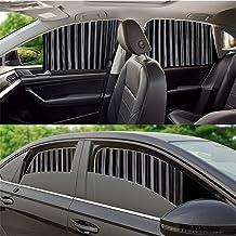 Abhsant Car Window Shade -Car Side Window Sun Shade Car Curtain Pleated Silky UV Protection Privacy Baby Suction Magnetic(...