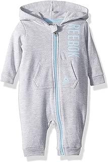 Reebok Baby Boys Fleece Zip Front Hooded Coverall