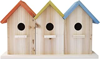 23 Bees 3 Hole Bird House for Outside/Indoors/Hanging | Kits for Children & Adults | Decorative Birdhouse & Home Decoration | Outdoors Feeder for Birds, Bluebirds, Wrens & Chickadees | All Weather
