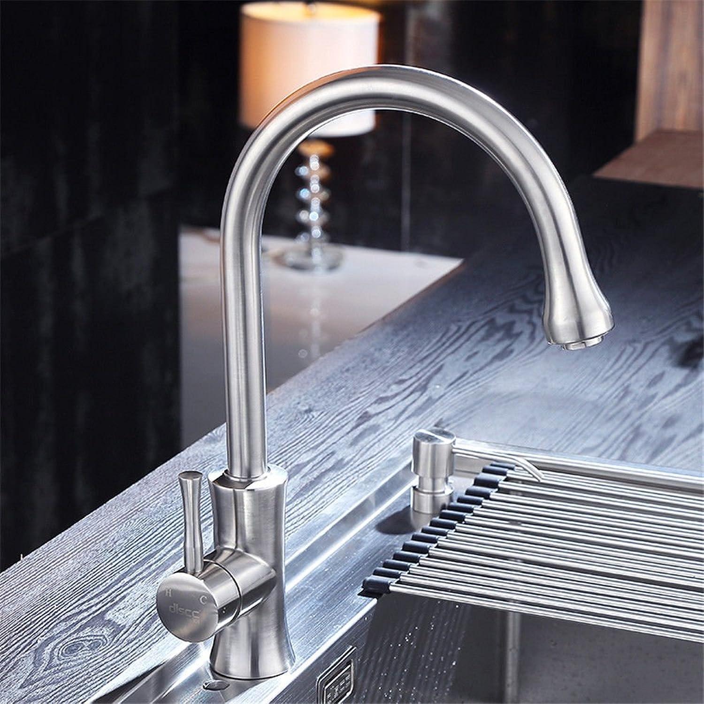 Gyps Faucet Waschtisch-Einhebelmischer Waschtischarmatur Badarmatur304 Edelstahl Küche Wasserhahn Schüssel Waschbecken mit kaltem Wasser Faucet Kitchen Sink Mixer,Mischbatterie Waschbecken