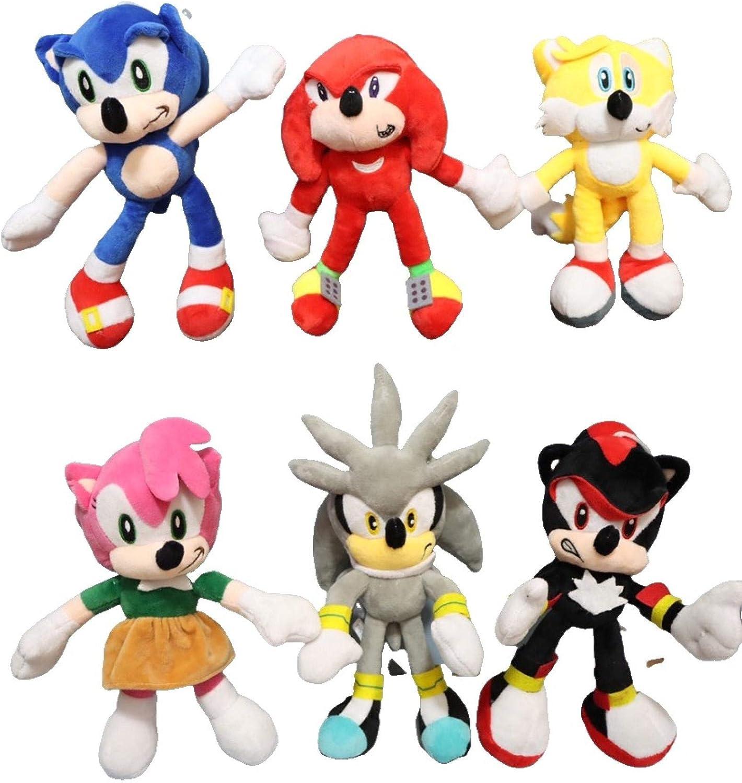 Sonic anime doll 6pcs lot Plush Doll Max 88% OFF Sale price Yello Toys Blue Black