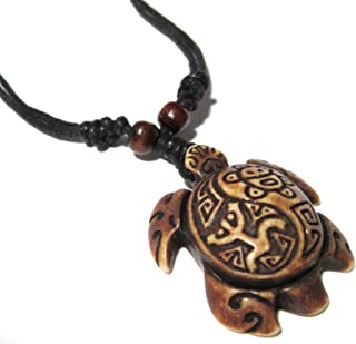 Turtle Necklace Pendant Sea Turtle Necklace Jewelry Turtle Necklace -Turtle Necklace with Coqui Taino and Taino Sun -Sea Turtle Necklace-Turtle Pendant Adjustable Rope
