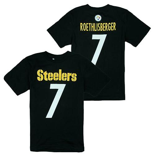 Outerstuff Pittsburgh Steelers NFL Big Boys Ben Roethlisberger   7 Player  Shirt - Black d4822c77f
