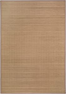andiamo - Tappeto in bambù, Naturale, Robusto, Privo di Sostanze nocive, Tessuto in Materiale Naturale, Dimensioni: 133 x 190 cm, Colore: Naturale, Dimensioni: 133 x 190 cm