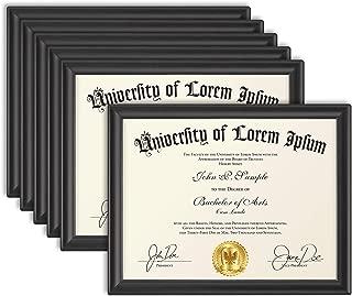 Icona Bay 8.5x11 Diploma Frame (6 Pack, Black), Certificate Frame, Document Frame, Composite Wood Frame for Walls or Tables, Set of 6 Lakeland Collection